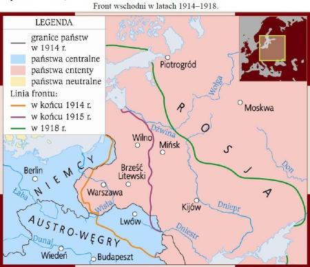Historia - Działania wojenne na froncie wschodnim - I wojna 26.03.2020
