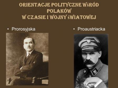 Historia :Polacy a I wojna światowa. 02.04.2020