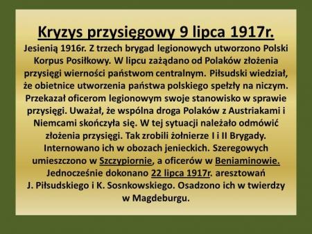 Historia: Sprawa polska w I wojnie światowej. 03.04.2020