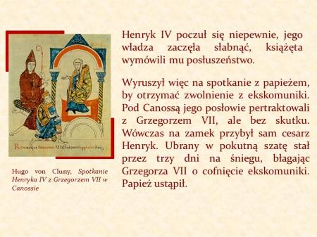 Historia - klasa V  Konflikt papiestwa z cesarstwem.