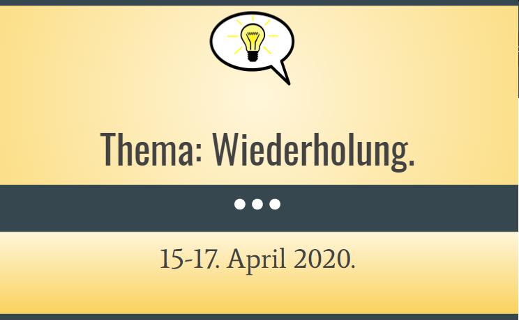 JĘZYK NIEMIECKI: Wiederholung 15.04.2020.