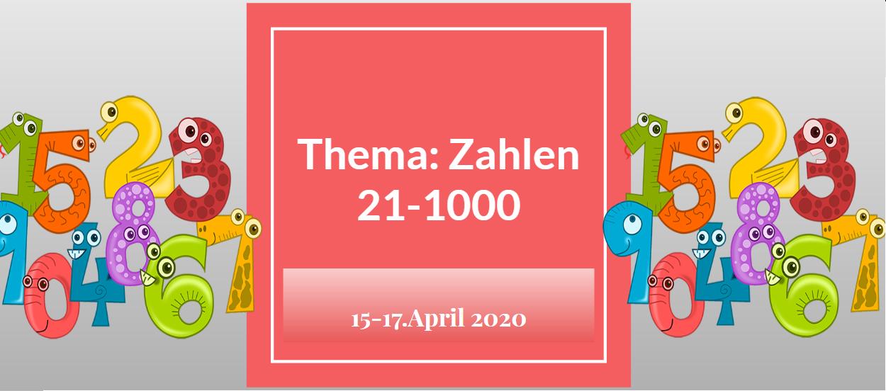 JĘZYK NIEMIECKI: Die Zahlen 15-17.IV.2020.