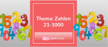 JĘZYK NIEMIECKI: Die Zahlen 20.IV.2020.