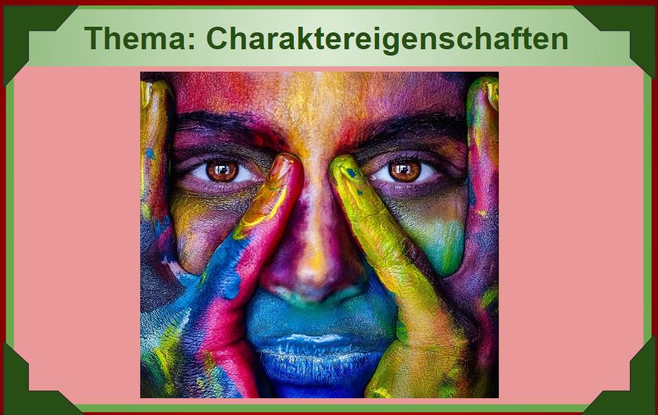JĘZYK NIEMIECKI: Charaktereigenschaften 23.IV.2020.