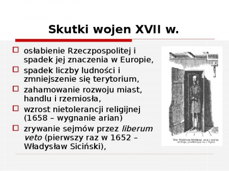 Historia: Rzeczpospolita w XVII wieku- powtórzenie. 29.04.2020
